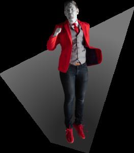 Renaldo van NOBLY in zwevende supermanpositie   NOBLY Authentieke Communicatie & Creatie