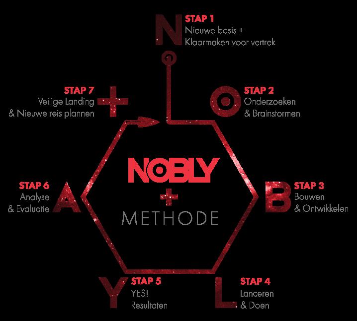 Schema van de NOBLY AAA+ Communicatieadvies Methode